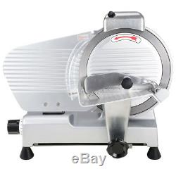 10 Blade Commercial Meat Slicer Deli Cheese Food 530RPM Electric Cutter Kitchen