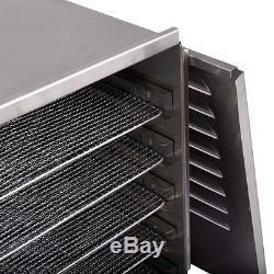 10 Tray Food Dehydrator Stainless Steel Fruit Jerky Dryer Blower Commercial New