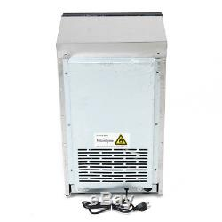 110LB 50Kg Commercial Ice Cube Maker Machine Stainless Steel Bar 110V 230W Home