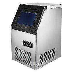 110Lbs Commercial Ice Maker Cube Stainless Steel Bar Restaurant Auto Freezer