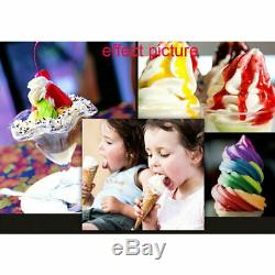 110V 3 Flavor Commercial Frozen Yogurt Soft Ice Cream Cones Maker Machine US