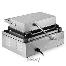 110V Commercial 6pc Lolly Waffle Maker machine Sausage Hot Dog Machine