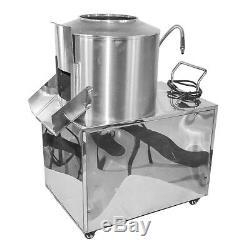 110V Commercial Automatic Potato Peeler Washer Potato Peeling Washing Machine