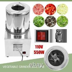 110V Commercial Food Processor Electric Vegetable Chopper Grinder Machine 550W