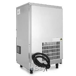 110V Commercial Ice Maker 100LBS/24H with 45lbs Storage Capacity Stainless Steel