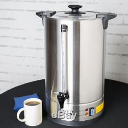 110 Cup (3 Gallon) Stainless Steel Commercial Electric Coffee Urn 120 Volt