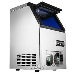 110lbs Ice Cube Maker Commercial Stainless Steel Undercounter Machine Air Cooled