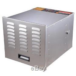 1200W 10 Tray Stainless Steel Commercial Industrial Dehydrator Food Jerky Fruit