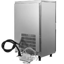 121Lbs Commercial Ice Maker Ice Machine Clear Ice Cube 55Kg Water Filter 28lbs