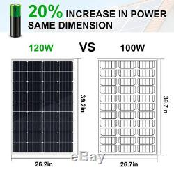 12V120W Solar Panel Deep Water Well Pump S/Steel Submersible Pump 20A Controller