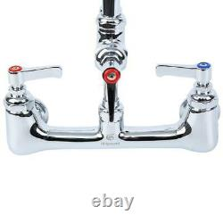 12 Commercial Wall Mount Pre-rinse Faucet Kitchen Sink Pull Down Mixer Tap