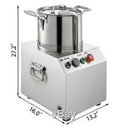 15L Commercial Food Processor Food Grinder Food Chopper S. Steel Vegetable Dicer