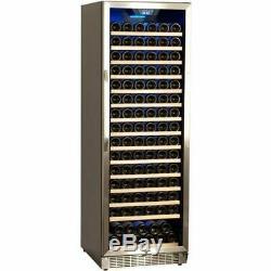 166 Bottle Stainless Steel Commercial Wine Cooler, Built-In Fridge Chill Cellar