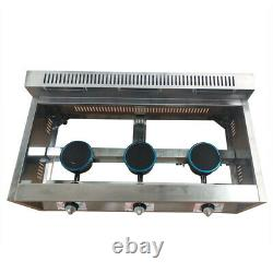 18L (6LX3) Commercial Gas Fryer Countertop Gas Deep Fryer Stainless Steel