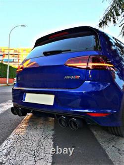 1Pair Matte Carbon Fiber Car Stainless Steel Exhaust Pipe Tail Muffler Dual Tips