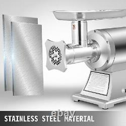 1.5HP 1100W Commercial Meat Grinder Sausage Stuffer Homemade 450lbs/h Automatic