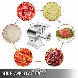 1.5HP Commercial Meat Grinder Sausage Stuffer With2 plates Industrial Maker Filler