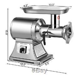 1.5HP Stainless Steel Meat Grinder Home Kitchen Commercial Grade 1100W 550LB/h