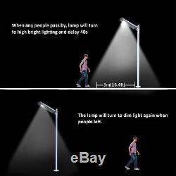 1,600LM Commercial Solar LED Street Light Outdoor IP65 Dusk to Dawn Sensor Lamp