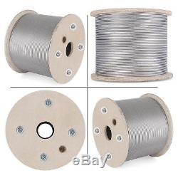 1/8 1x19 Stainless Steel Cable Wire Rope 1000 ft T316 Commercial Grade Strand