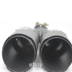 1 Pair Akrapovic Carbon Fiber Exhaust Tip Dual Pipe Muffler ID2.5 63mm OD3.5