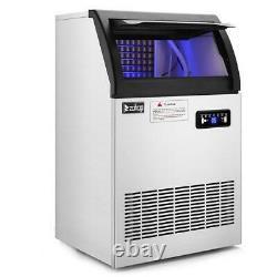 200lb Built-in Commercial Ice Maker Stainless Steel Bar Restaurant Cube Machine