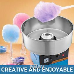 21Commercial Cotton Candy Machine Sugar Floss Maker Party Electric Blue