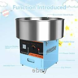21 Cotton Candy Machine Electric Commercial Cotton Candy Floss Maker Blue