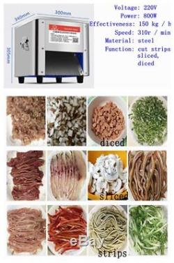 220V 850W Commercial 150Kg/H Stainless Steel Meat Cutting Machine Cutter Slicer