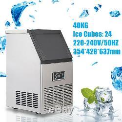 220V Commercial Ice Maker Machine Stainless Steel Drinking Bar Restaurant