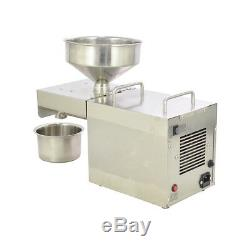 220V Commercial Stainless Steel Automatic Oil Press Extraction Machine Oil Mill