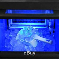 22Lbs 10kg Auto Commercial Ice Cube Maker Machine Stainless Steel Bar 110V 300W