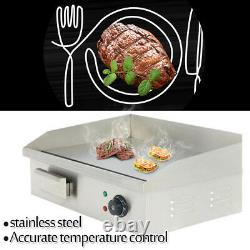 22 3000W Electric Countertop Griddle Flat Top Restaurant Commercial Grill BBQ