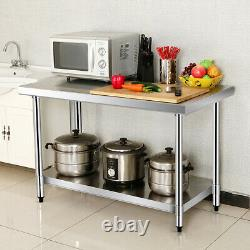 24 x 36 Stainless Steel Food Prep & Work Table Commercial Kitchen Worktable