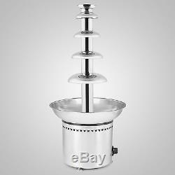 27 Stainless Steel Chocolate Fountain Fondue 5 Tier Commercial Banquet Wedding