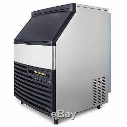 290LBS Commercial Ice Maker Ice Cube Making Machine 130KG /24H Auto LCD Control