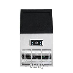 2.0 Auto Commercial Ice Maker Making Cube Machine Stainless Steel Bar 110LB 230W