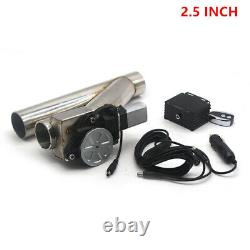 2.5 Electric Exhaust Downpipe Cutout E-Cut Out Dual-Valve Wireless Remote Parts