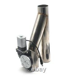 2 Motorized Electric Exhaust Downpipe Cutoff Bypass Valve Cutout + Remote Kit