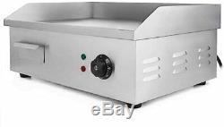 3000W 22 Commercial Electric Countertop Griddle Flat Top Grill Hot Plate BBQ US