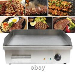 3000W Electric Griddle Cooktop Flat Thermomate Commercial Restaurant Grill BBQ