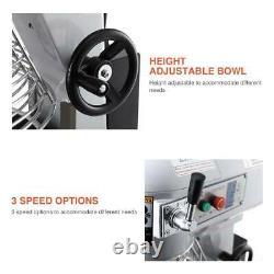 30Qt Dough Food Mixer Commercial 1.5HP/1100W 3 Speed Pizza Bakery Dough Blender