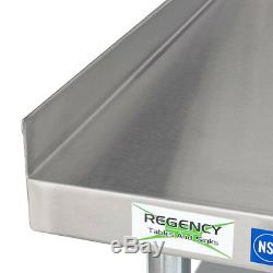 30 x 36 Heavy Equipment Stand with Casters Stainless Steel Work Table Commercial
