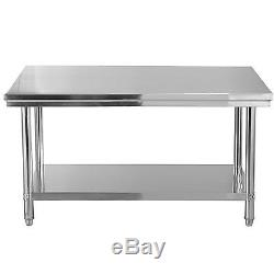 30x 48 Stainless Steel Commercial Kitchen Work Food Prep Table 48x30x 31.5
