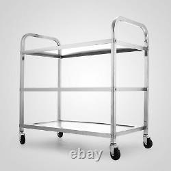 330Lbs Stainless Steel Commercial Bus Cart Kitchen Food Catering Rolling Cart