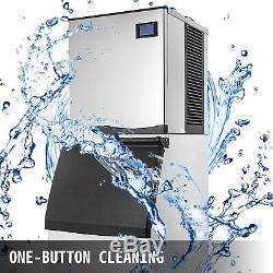 350 Lbs/24H Commercial Ice Maker Machine 235 Lb Storage Bin Digital Control 850W