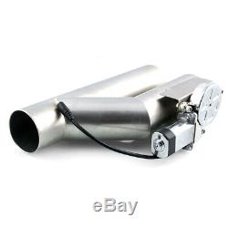 3.0'' Headers Y Electric Exhaust Pipe Cutout Dual Valve Stainless Steel System