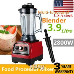 3.3HP 2800W Heavy Duty Commercial Blender Mixer Power Juicer Food Process