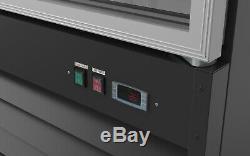 3 Door Glass Cooler Commercial Refrigerator Merchandiser Beverage Cooler 78