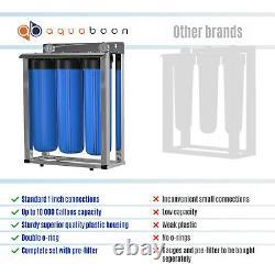 3-Stage Big Blue 20 Whole House Filtration System+Stand+KDF+Carbon+Sediment